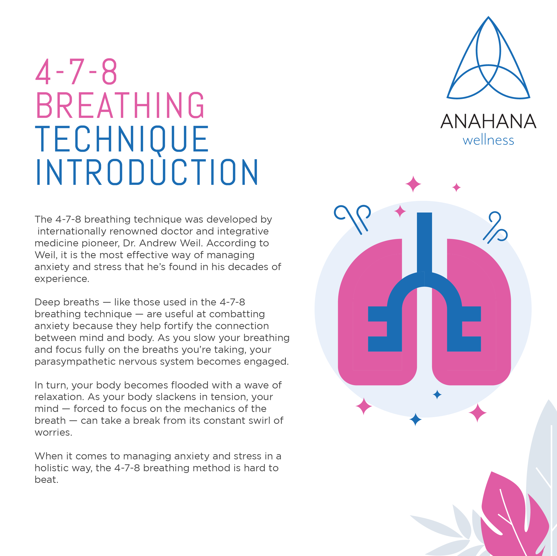 infographics of 478 breathing technique