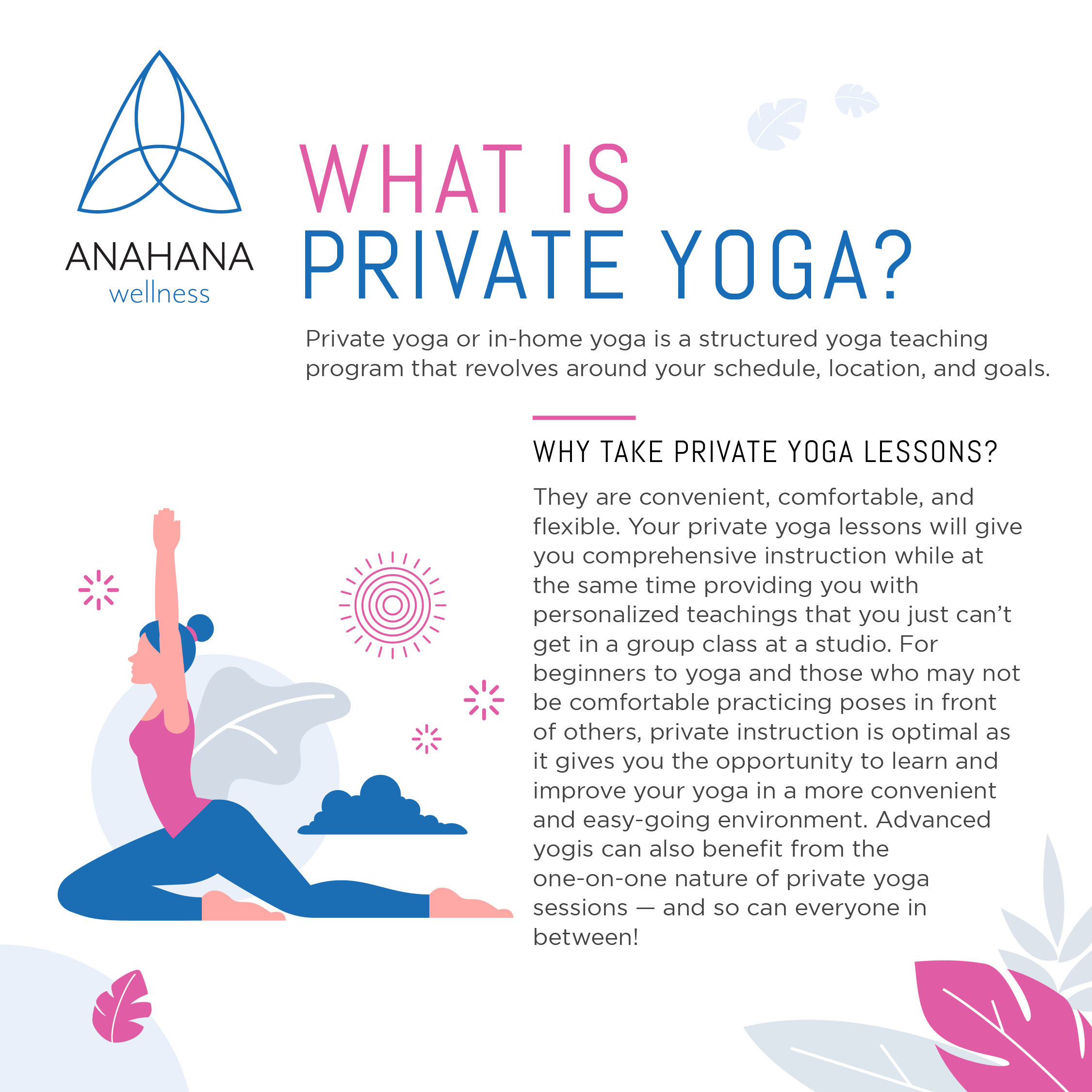 What is private yoga anahana wellness