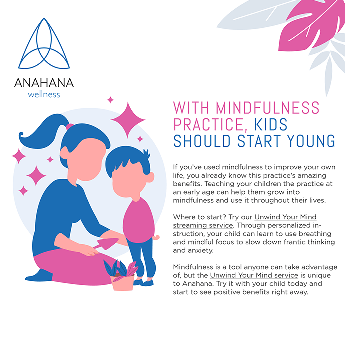 Woman and a child practicing mindfulness for kids