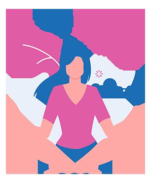 Woman sitting in lotus pose practicing yoga nidra for sleep