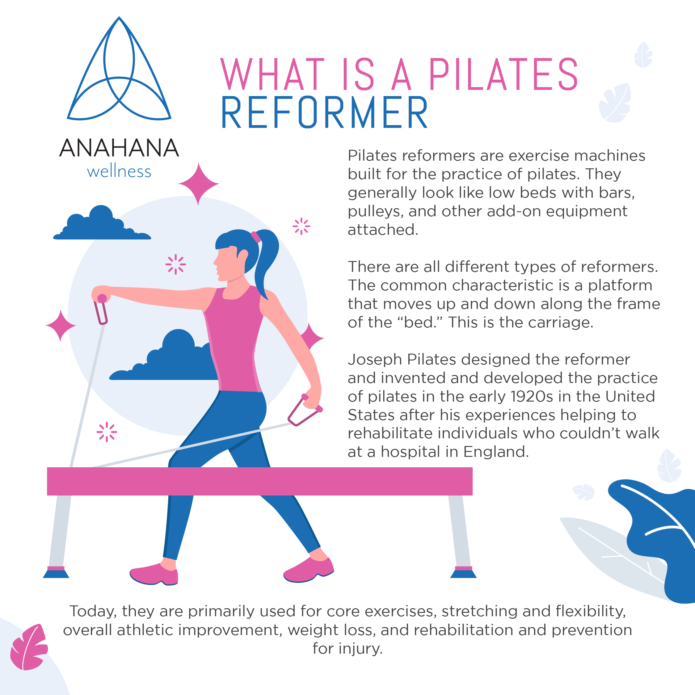 girl doing arm exercises using a pilates reformer