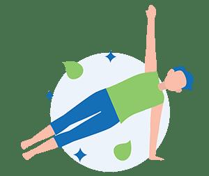 man doing yoga for improved mental health as benefits of yoga for men