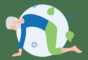 man performing yoga reaping benefits of yoga for men regarding back pain