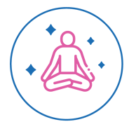 man sitting in meditation pose using meditation as a stress management tool