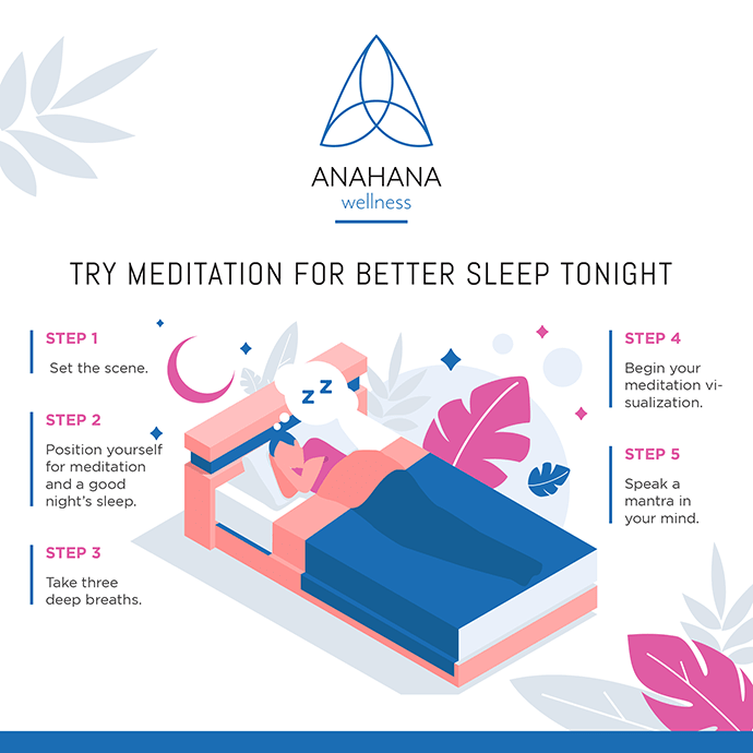 try meditation tonight for better sleep man sleeping on bed