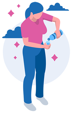 woman drinking water to maintain healthy hydration