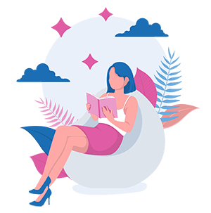 woman sitting down reading a book on healthy hydration