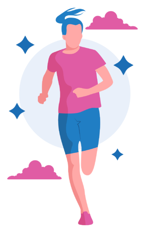 yoga for runners woman running after doing yoga