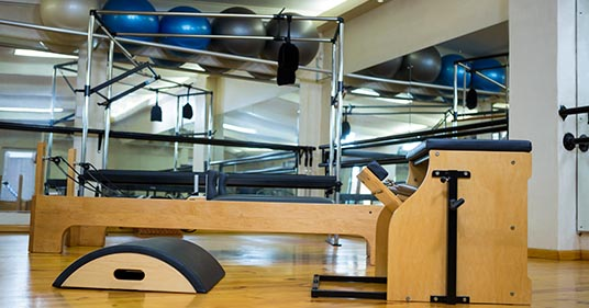 Pilates equipment, used during different types of pilates exercises
